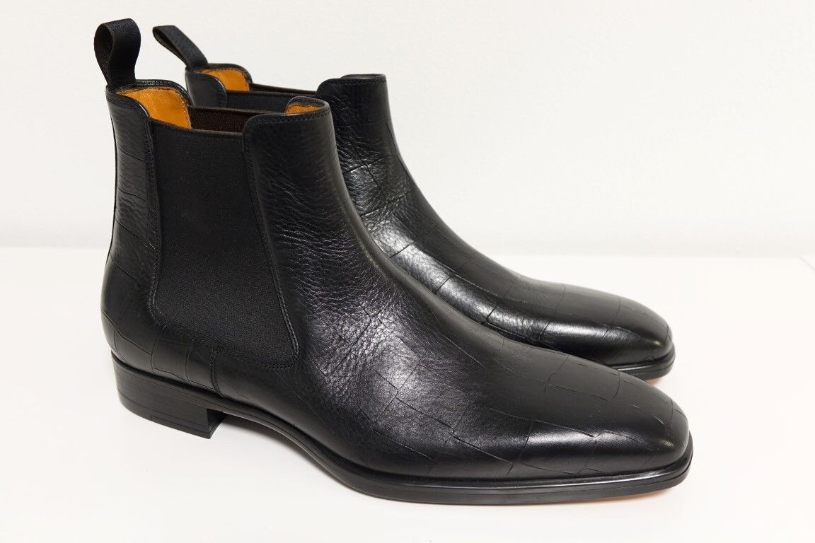 Santoni Chaussures bottes Bottes Business Chaussures Hommes Taille 8 (42) - NEUF ORIGINAL