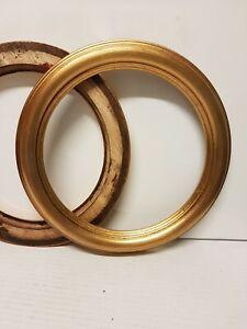 Cornice TONDA in legno oro foglia per quadri, foto, stampe,poster ecc. italiane