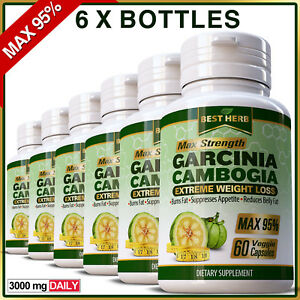 Details About 360 X Capsules Garcinia Cambogia Max Weight Loss Fat Burner Slimming Diet Pills