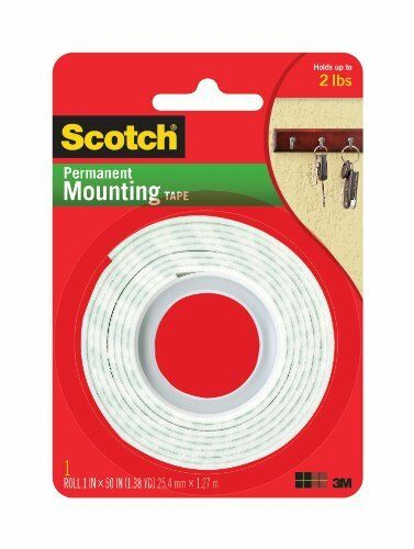 "1 // Scotch Mounting Tape Double-sided Foam 1/"" Width X 4.17 Ft Length"