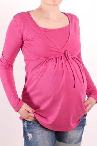 elegant Maternity Pregnancy nursing breastfeeding Top Blouse Shirt long sleeve