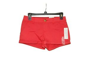 So-Sun-Soft-Chino-Short-Shorts-1-Women-New-Red-Low-Rise