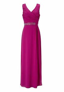 BNWT-039-s-Jacques-Vert-Size-10-Fuchsia-Pink-Maxi-Evening-Bridesmaid-Dress-199