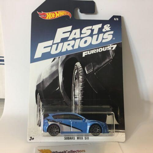 bleu//argent WK6 SUBARU WRX STI Hot wheels FAST /& FURIOUS