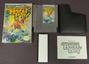 Bayou-Billy-NES-Nintendo-Game-Original-BOX-Complete-CIB-Manual-Dust-Cover