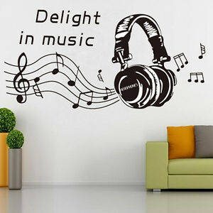 Music Notes Play Write Wall Sticker Removable Home Mural
