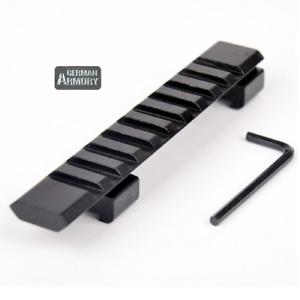 Stinger-11mm-Prismenschiene-zu-22mm-Picatinny-Weaver-Adapter-lang-10-Slots
