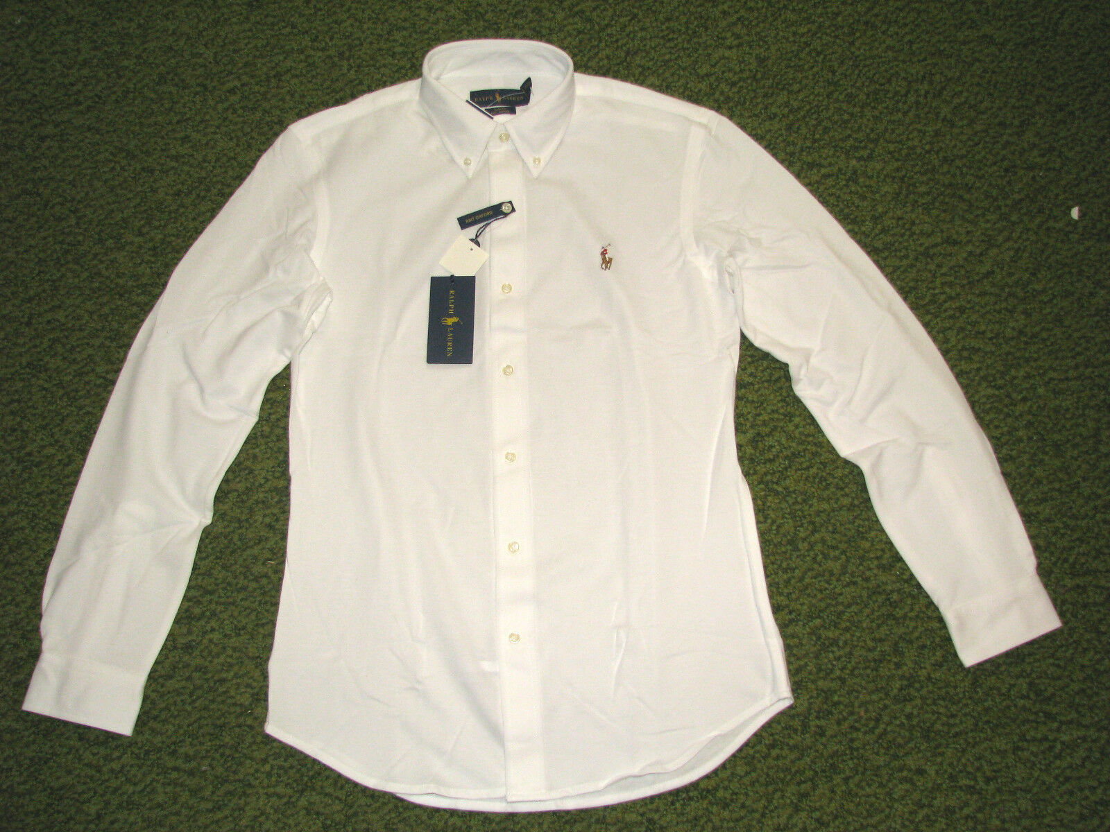 Homme (xxl) Polo-ralph Lauren Blanc Tricot Piqué Chemise Oxford   eBay 72229f14b4f
