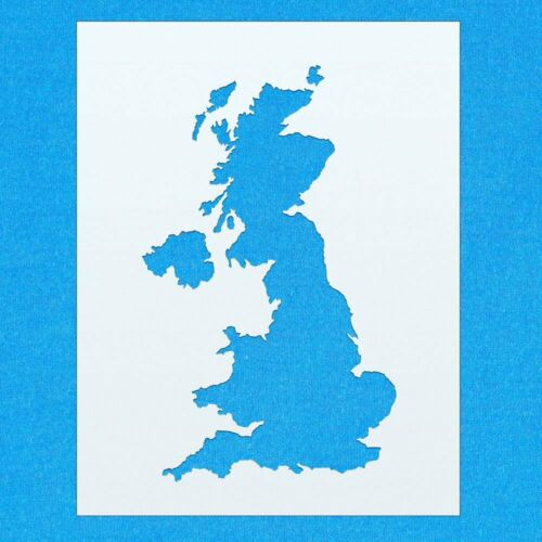 United Kingdom Map Country Flag Mylar Airbrush Painting Wall Art Crafts Stencil