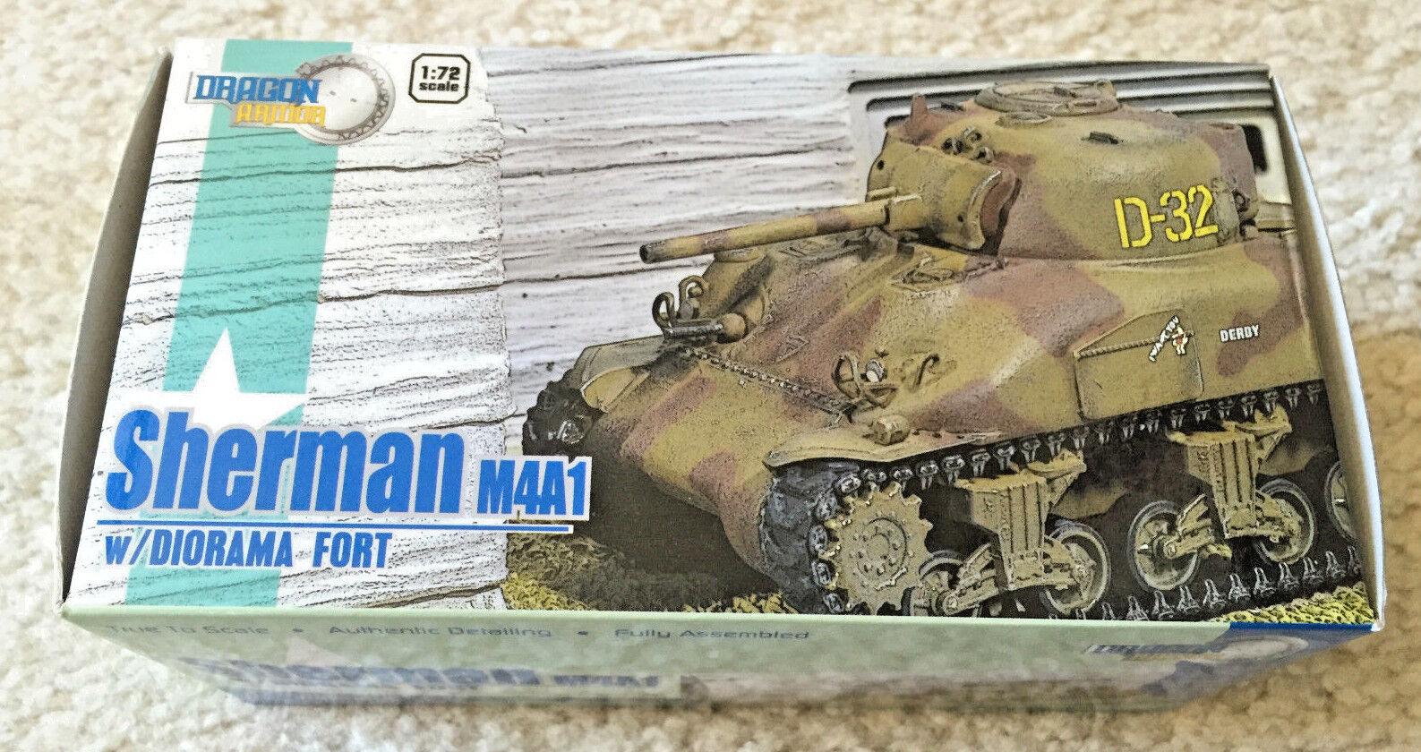 drake Armor 6037 M4A1 Sherman _D32, Normandie, Frankrike, 1944 w  Fort Diorama