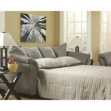 Super Ashley Baveria Queen Sofa Sleeper In Fog Finish 4760039 For Machost Co Dining Chair Design Ideas Machostcouk