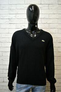 Maglione-Nero-Uomo-LACOSTE-Taglia-7-XXL-Pullover-Sweater-Man-Cardigan-Lana