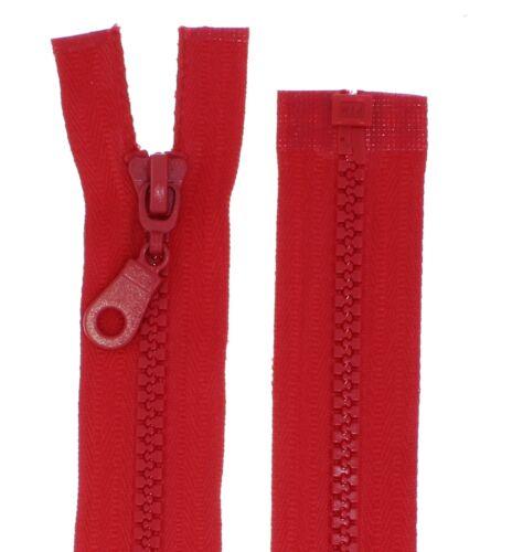 Reißverschluss PZ 5mm grob teilbar Kunststoff Plastik 60 65 70 75 80 85 90cm