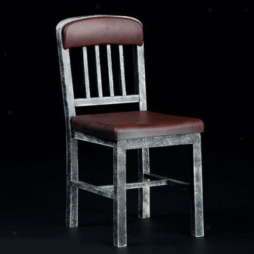 1//6 Scale Metallic Colored Chair Stool Model for 12INCH Action Figure Brown