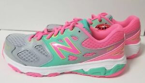 Details about New Balance Techaide 680v3 Girls running shoes size 5 Wide width hot pink gray