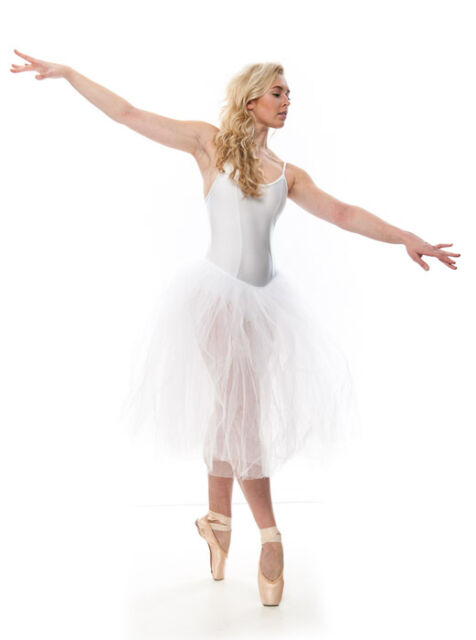 Girls Ladies White Romantic Ballet Dance Tutu All Sizes By Katz Dancewear