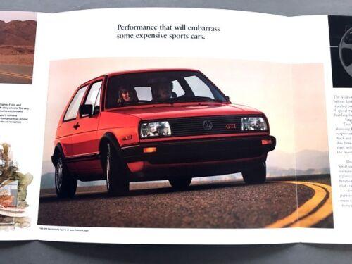 1986 Volkswagen VW GTI Original Car Dealer Sales Brochure Catalog