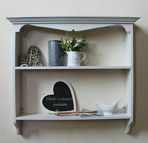 Shabby chic french country style rustic painted kitchen for French country shelves