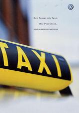 Preisliste VW Passat Taxi 2.1.02 2002 Mj. 2003 price list prislista Preise Volks