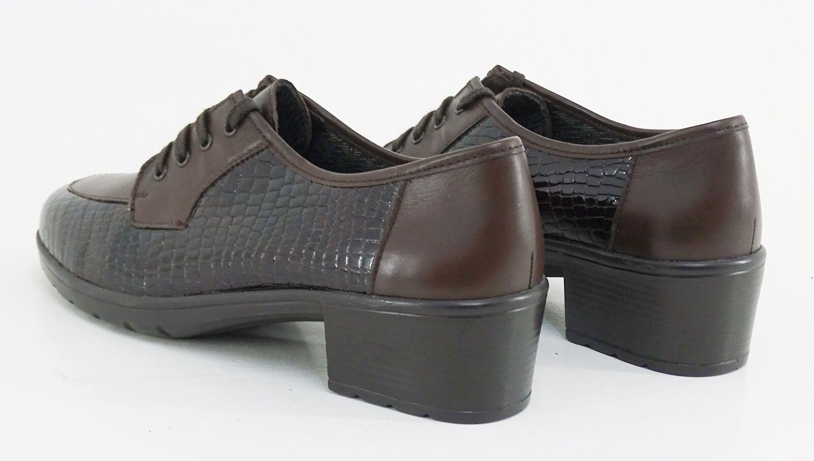Con cordones meisi Comfort zapato zapato zapato bajo tacón cuero genuino marrón talla 6 = 39 W  g 8a5813