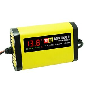 Voiture-Et-Moto-30w-12v-2a-Affichage-Numerique-Batterie-Charge-Prise-UE-D8Y9