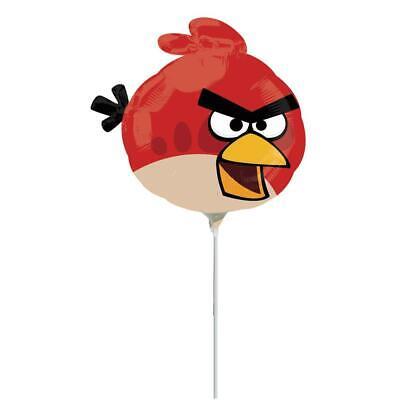 "ROVIO ANGRY BIRDS RED BIRD 12/"" MINI SHAPE FLAT BALLOON ANAGRAM AIR ONLY!"