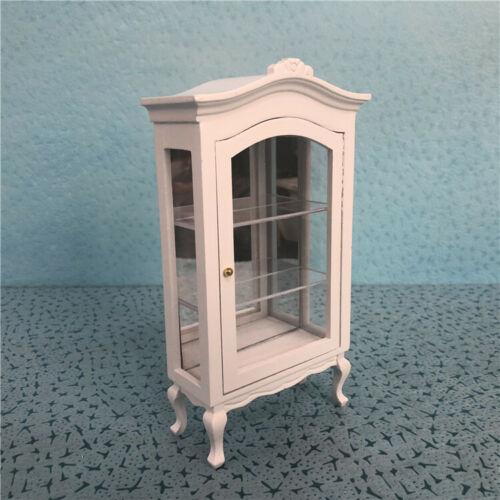 1:12 Dollhouse Miniature Wood Food Drink Display Cupboard Cabinet Shelf Showcase