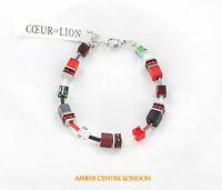 Genuine Hand Made Beautiful Red Cubes Coeur De Lion Set- 4014/ 0312