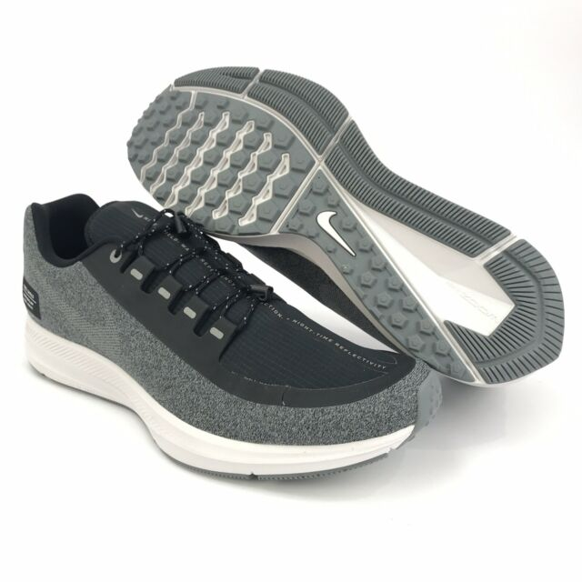 new arrival 73ca4 cff18 Nike Men's Air Zoom WinFlo 5 Shield Gray Black Running Shoes Size 9
