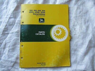 John Deere 300 400 600 800 JDX4 JDX6 JDX8 Snowmobile Parts Catalog Book Manual EBay