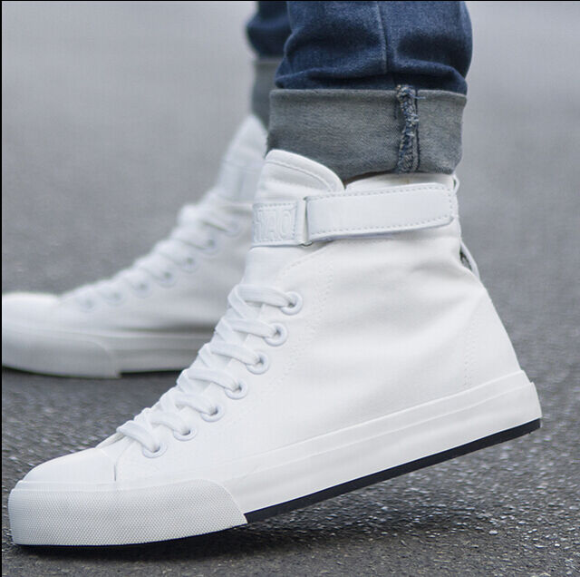 2016 New Men Spring High Top Canvas Shoes Running Sport Shoes Men Sneakers