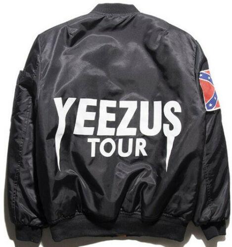 Herren Flight Bomber Jacken West Yeezus Tour Season Ma-1 Outwear Mantel Pablo