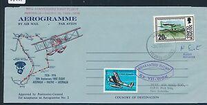 06867) CF Australia - Pacific1976, signed Aerogramme Honiara - Port Vila - Bünde, Deutschland - 06867) CF Australia - Pacific1976, signed Aerogramme Honiara - Port Vila - Bünde, Deutschland