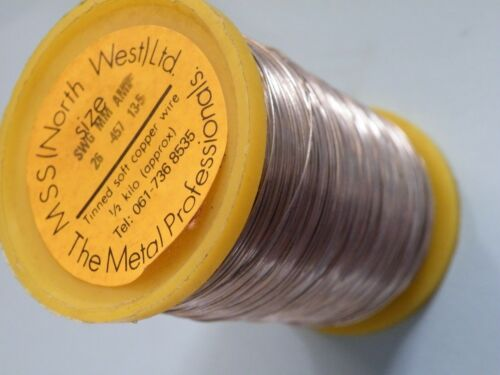 1//2 Kilogram 500g Reel of Tinned copper wire 26SWG 0.45mm 13A Fuse wire  611