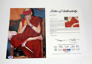 His Holiness The Dalai Lama Signed Autograph Photo PSA/DNA COA