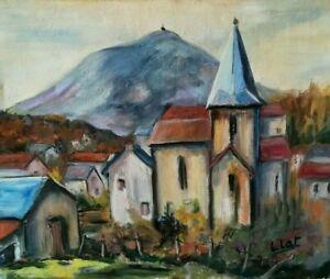 Peinture-Huile-sur-Toile-Signe-Peintre-Contemporain-TBE