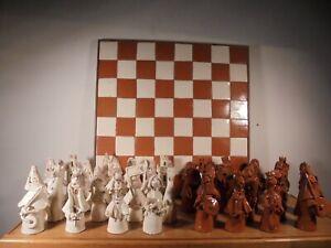 Ceramique-Vintage-60-Rare-Jeu-Echec-par-Paule-Marchand-DLG-Vallauris-Giarrusso