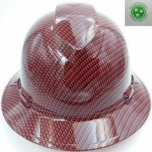 New Custom Pyramex Full Brim Hard Hat Hydro Dipped Carbon Fiber Ebay