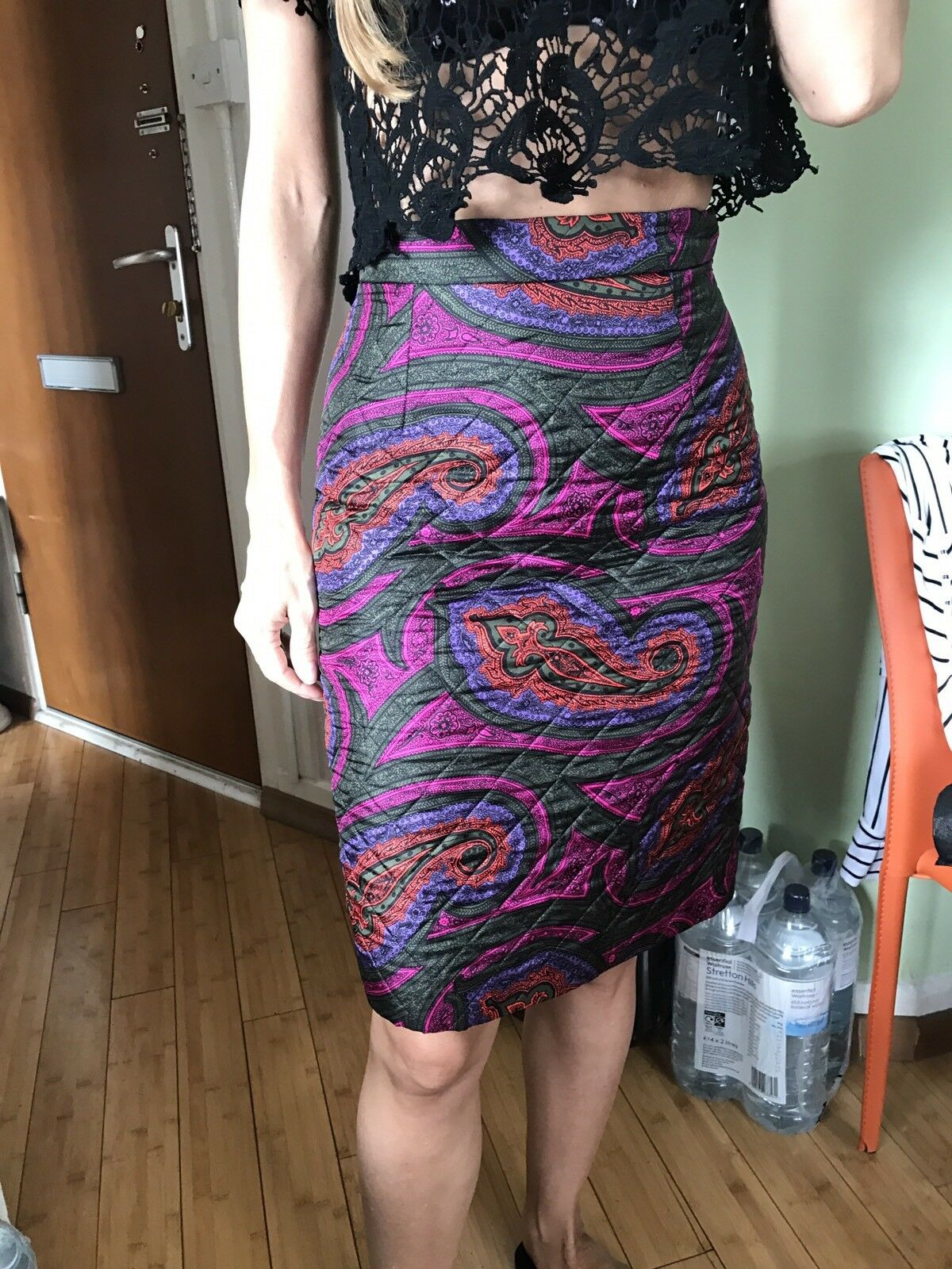 JW ANDERSON X TOPSHOP QUILTED MIDI SKIRT UK SIZE 8