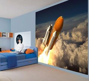 Cape caniaveral challenger space shuttle launch wallpaper wall mural