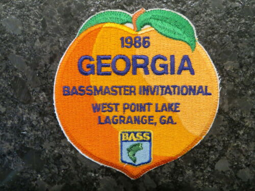 Rare Vintage Bassmaster Tournament Patch 1986 Georgia Peach