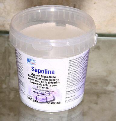 SAPOLINA  Giess - Seife  WEISS  Glycerin Seife  Seifengiessen gießen NEU