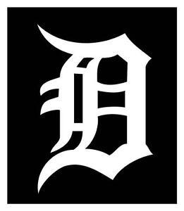 detroit tigers old english d 5x7 car window decal sticker ebay