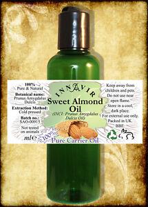 100-Pure-Sweet-Almond-Oil-200ml-100ml-10ml-10-FREE