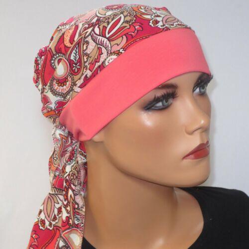 Kopftuchmütze//Chemomütze pink  Chemo Turban Chemokopftuch Kopf /& Kragen Design