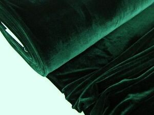 stretch samt stoff samtig elastisch meterware dunkelgr n ebay. Black Bedroom Furniture Sets. Home Design Ideas