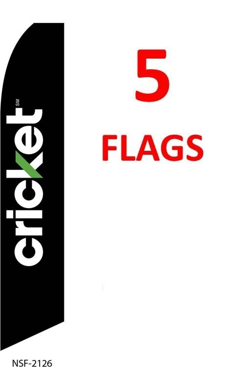 5 QUALITY USED CARS chk//red//yel 15/' SWOOPER #1 FEATHER FLAGS KIT five