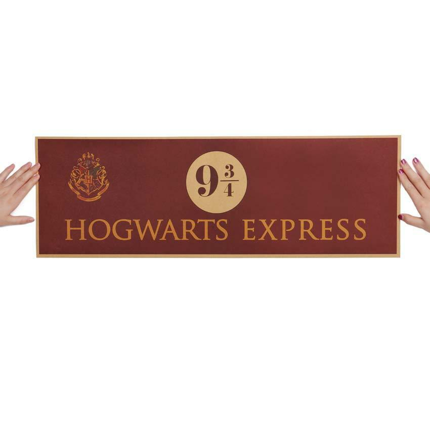 Hogwarts Express 9 3/4 Harry Potter Movie Paper Poster Wall decoration 72x24cm 2