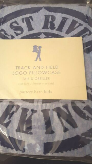 New Pottery Barn Kids Soccer Track And Field Pillowcase