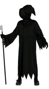 Childs Boys Death Black Grim Reaper Horror Halloween Fancy Dress Costume Mask